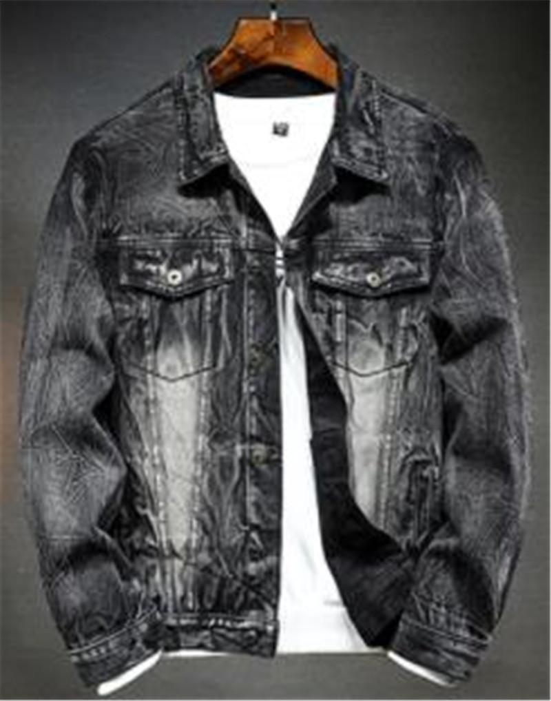 Designer Men Jeans Coat Tops Long Sleeve Rabbit Hair Loose Label Neck Coat Spring Teenager Casual Clothes