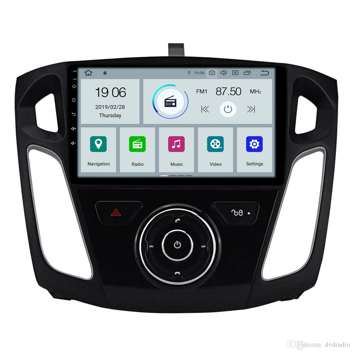 """COIKA 10.1""""Android 9.0 System Car DVD Auto Radio For Ford Focus 3 2012-2016 GPS Navi Touch Screen WIFI 4G RDS OBD 2+16G RAM BT SWC"""
