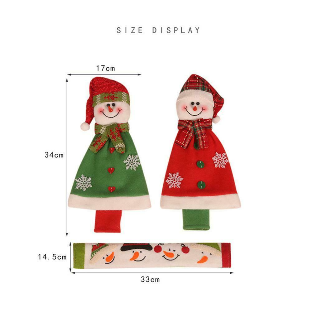3 / 4PCS Kühlschrank Türgriffblenden Küchengerät Schutz Weihnachtsdeko
