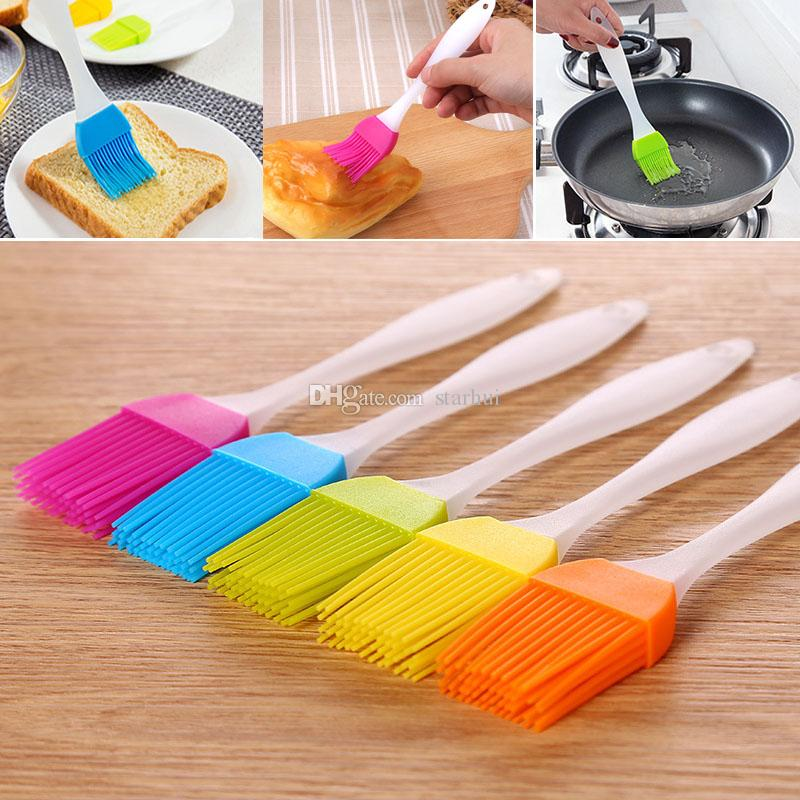 Silicone Butter Brush BBQ Oil Cook Pastry Grill Food Bread Basting Brush Bakeware Kitchen Dining Tool Free DHL WX9-1108