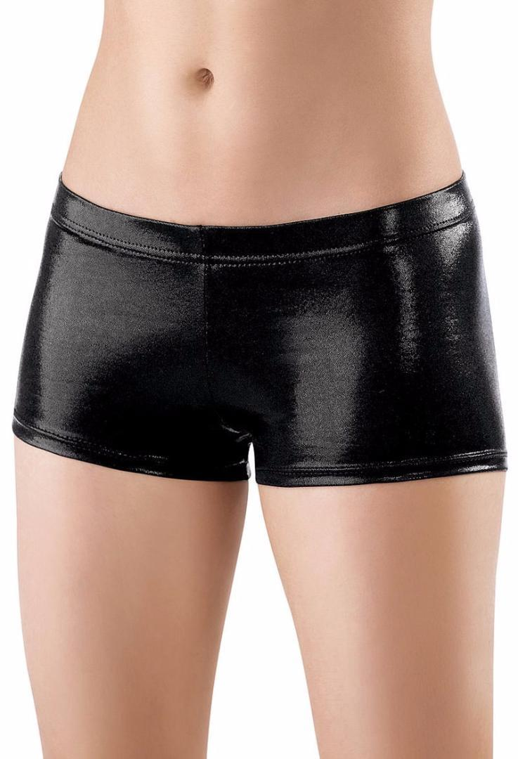 Mulheres cintura baixa Elastic Cintura metálicas Dança Booty Shorts Meninas brilhante Stage Desempenho Shorts Ballet Bottoms Meninas