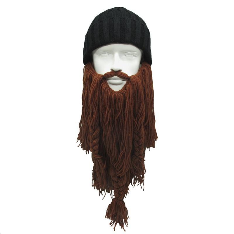 Barbarian Beard de Handmade Homens Outdoor chifre Chapéus inverno quente Hunting Ski aniversário presentes frescos