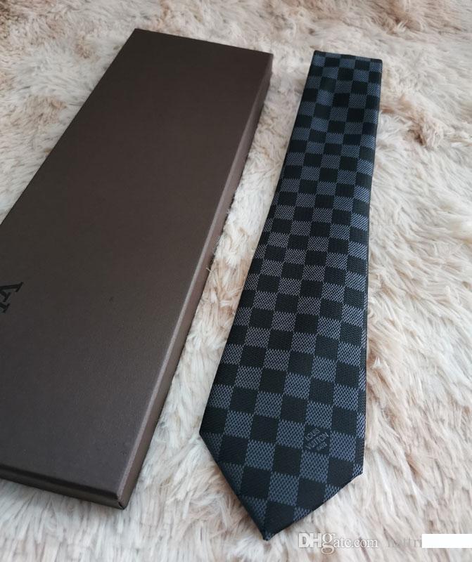 جديد أزياء الرجال نحيل الصلبة 20 أنماط سهل الحرير ربطة العنق التعادل زفاف الرقبة العلاقات 2020 الموضة للرجال لطيف التعادل L8891