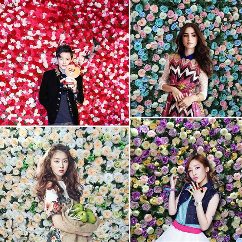 2019 Fashion Green Planting Flower Wall Simulated Flower Row Engineering Store Decoration Wedding Background Introduction 5 colors
