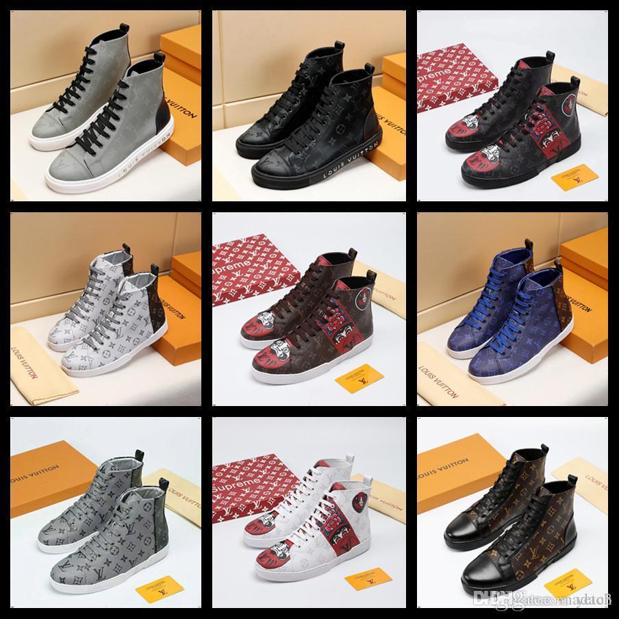 21FW Designers Shoes deslizamento em sapatas Casual Masculino Canvas Shoes Luxury Brands Trainers Zapatillas Hombre Tenis Plimsolls Alpercatas Sapatilhas