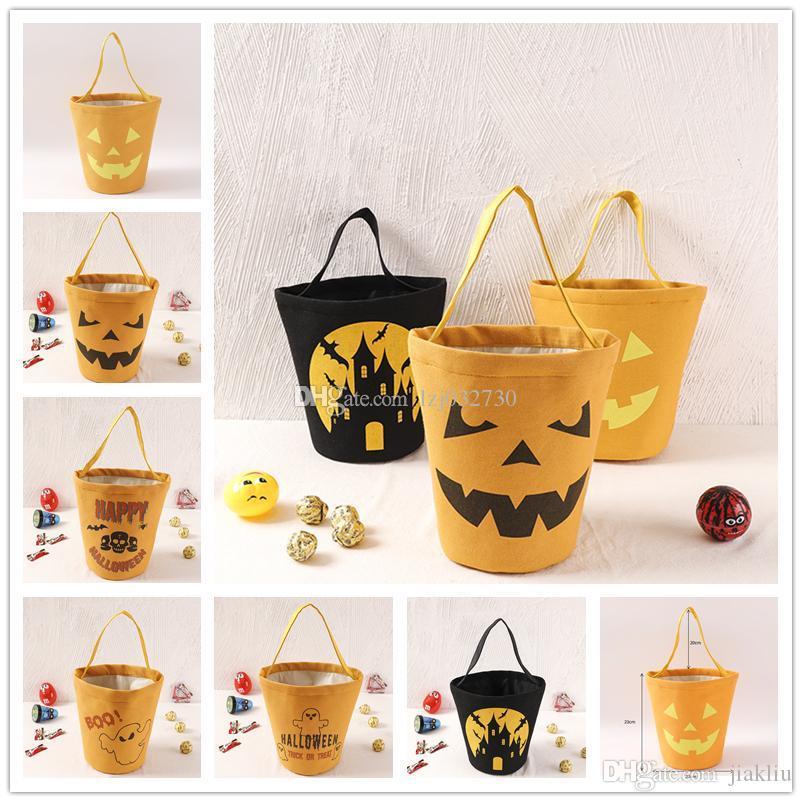 Moda Halloween Cartoon Shopping Bag Zucca partito borsa della stampa del sacchetto di immagazzinaggio dei bambini di Halloween Candy Bag A245