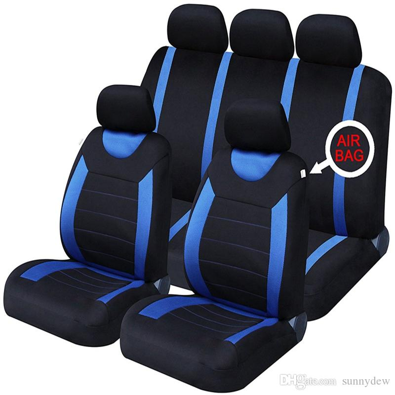 High Quality Universal Car Seat Cover 9pcs Full Seat Covers Fittings Crosscovers Sedans Auto Interior Car Accessories Seat Protect F-26