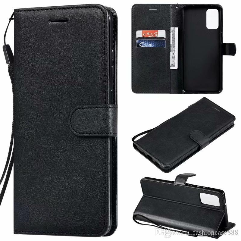 Titular de la tarjeta de crédito del tirón de la ranura de la PU billetera de cuero de la cubierta para Iphone 11 Pro XS máximo MAX XR 6 7 8 más S20 S20 Ultra PLUS PLUS S10 A51 A71 Nota 10