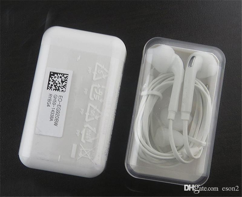 Melhor qualidade S6 Earphones Headphones 3,5 milímetros no fone de ouvido ouvido Earbud Fone de ouvido com microfone com pacote de varejo EO-EG920LW Para Samsung S6 S7