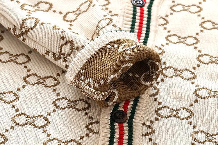 Portano i capretti maglione Bambini Knit dei bambini all'ingrosso di usura giacca a righe maglione della ragazza cotone mercerizzato Boy Cardigan