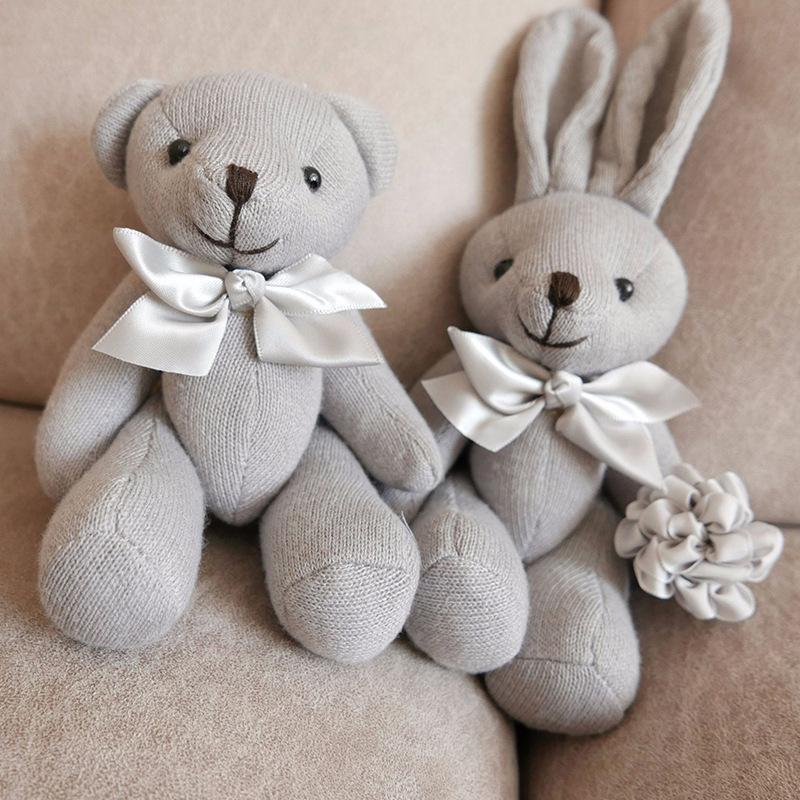 1PCS bebê jogo suave Plush Toys Lovely Bear alta qualidade Coelho Appease boneca Baby Dolls Reter Muppet Brinquedos