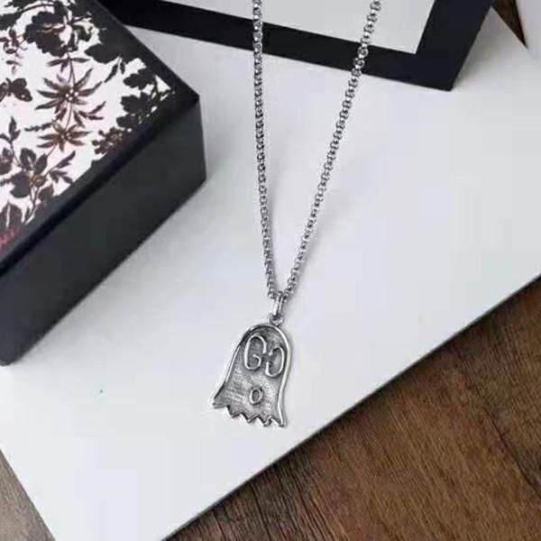 New hot sale cartoon ghost designer jewelry double-sided couple models hip-hop designer necklace
