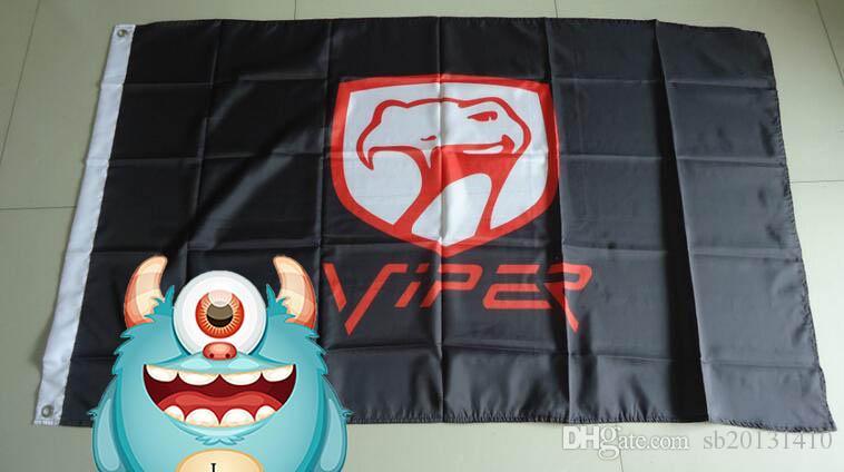 viper flag for car show, viper car banner,90X150CM size,100% polyster 100% polyester 90*150cm,Digital Printing