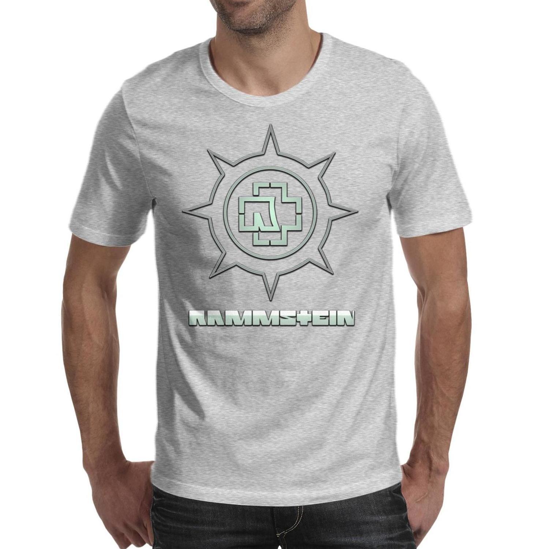 Moda Hombres de impresión Rammstein banda camiseta personalizada camisas impresionantes logo Colegio gris