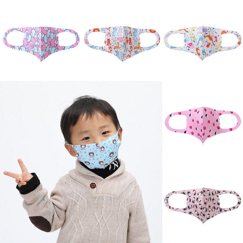 Cara niños Máscara animal de la historieta impreso máscara de polvo lavable boca Máscaras Máscara reutilizable de protección Pantalla Moda niños