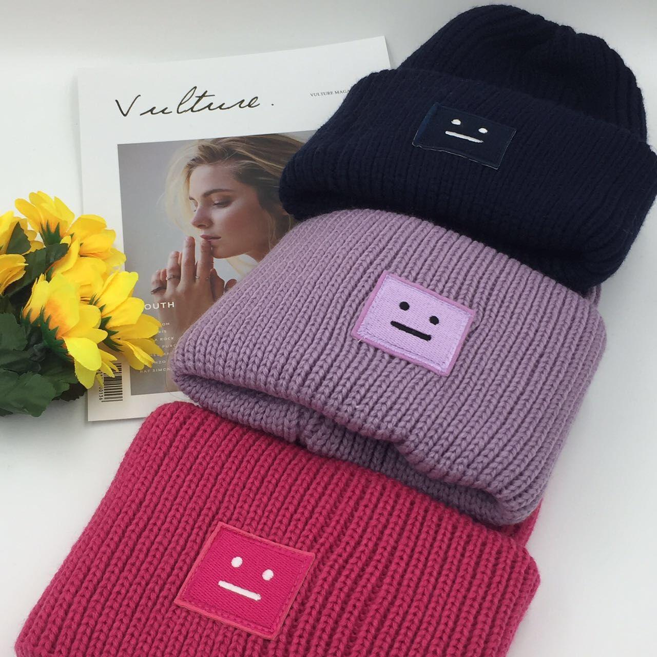 مربع وجه التعبير تسمية قبعة امرأة في الشتاء الدافئة حك الصوف كاب كلاسيكي تزلج قبعة كاب حزب قبعة TTA1708