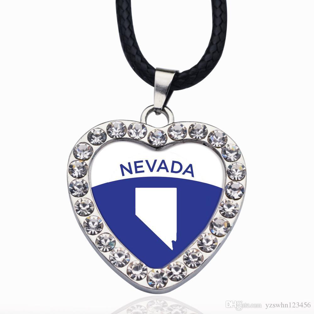 Collar de cadena Esquema de Nevada Círculo Charmc collar Estrellas bola colgante de cristal Collares para unisex
