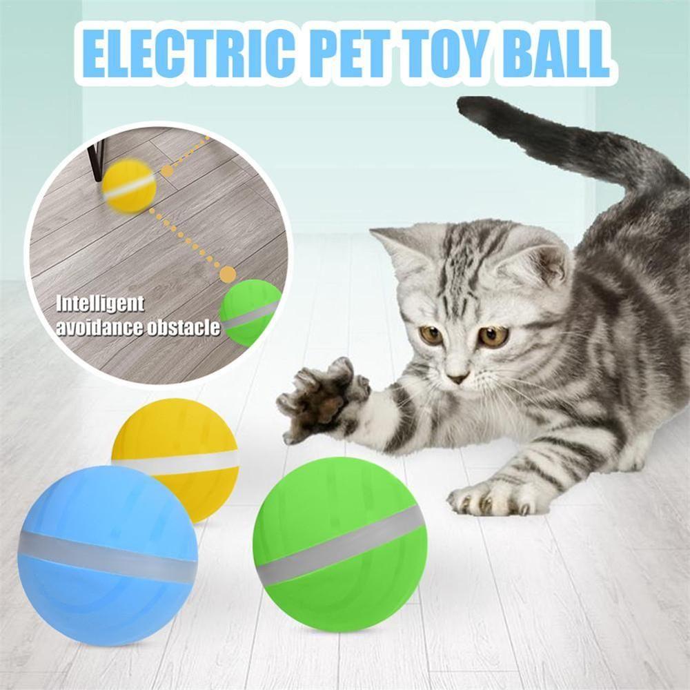 Водоустойчивые взрывчатые Пэт мяч прыгает USB электрическая волшебное животное вело прокатки Флэш мяч забавные игрушки дома кошки собаки детские игрушки горячая