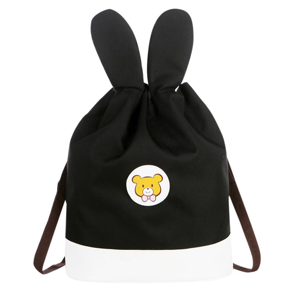 Mother&Me Children Baby Boy Girl Cartoon Drawstring Backpack Toddler Baby Kid 3D Cartoon Ears School Bags bolso
