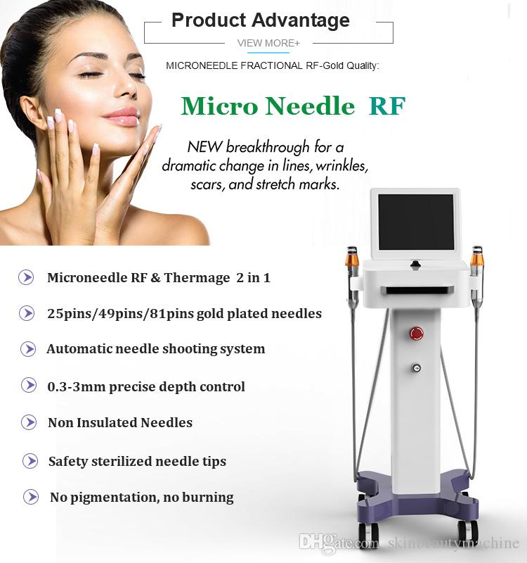 2019 New Microneedle Skin Roller Anti Aging Treatment Microneedle Collagen  Induction Therapy Fractional RF Skin Tightening Machine On Sale Rf Beauty