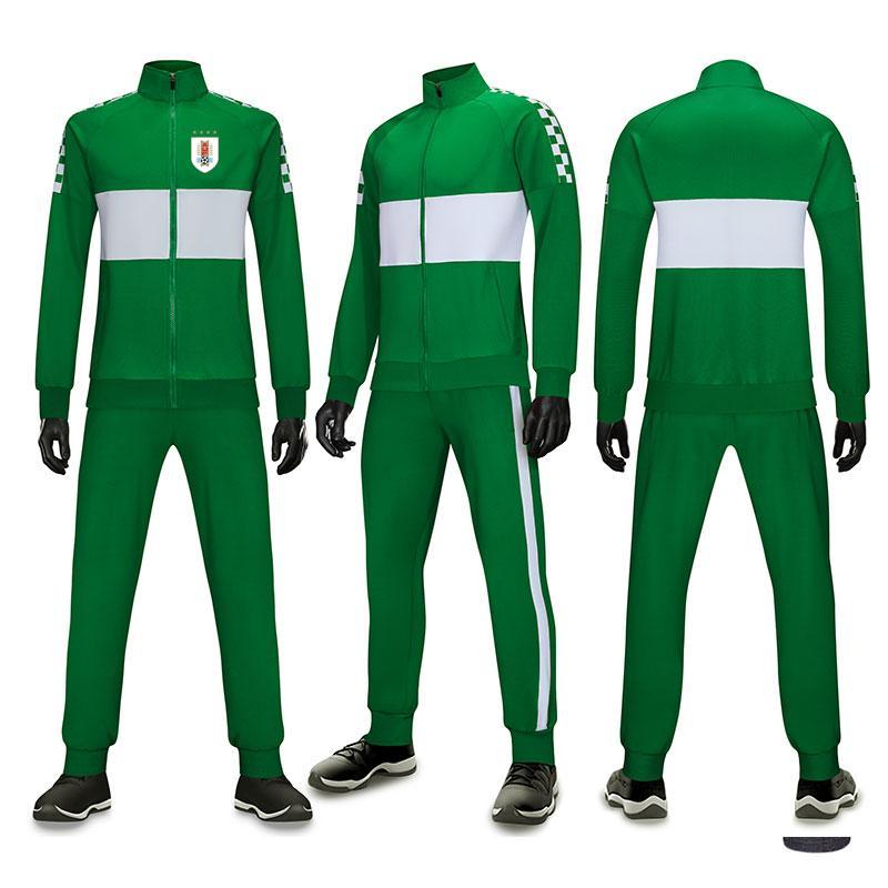 Uruguay squadra di calcio all'aperto uomini di alta qualità dei vestiti di pista Poliestere Sportswear Tuta Fitness in esecuzione Tuta tuta pista da jogging