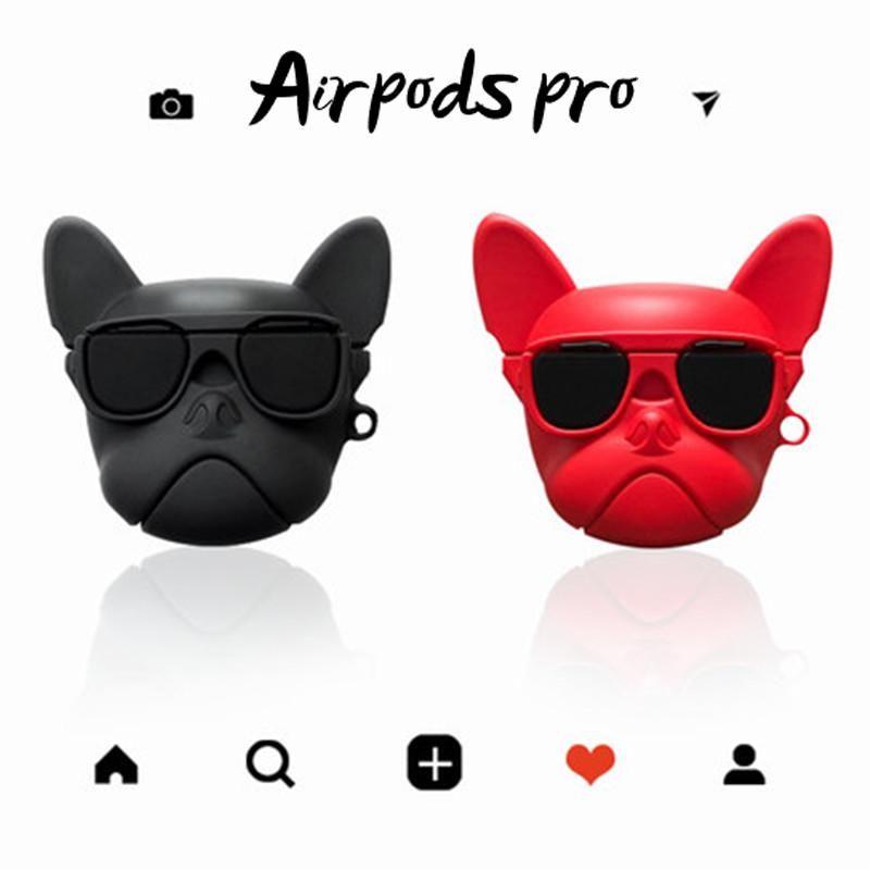 Для airpods case airpods pro luxury Cute ins 3D бульдог собака силиконовый чехол для Airpods 1 2 Bluetooth наушники аксессуары крышка сумка коробка