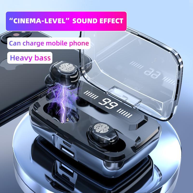ORIGINAL M11-9 fones de ouvido sem fio TWS Bluetooth 5.0 fones de ouvido Hifis IPX7 impermeáveis Fones de ouvido Touchs Headset para esportes