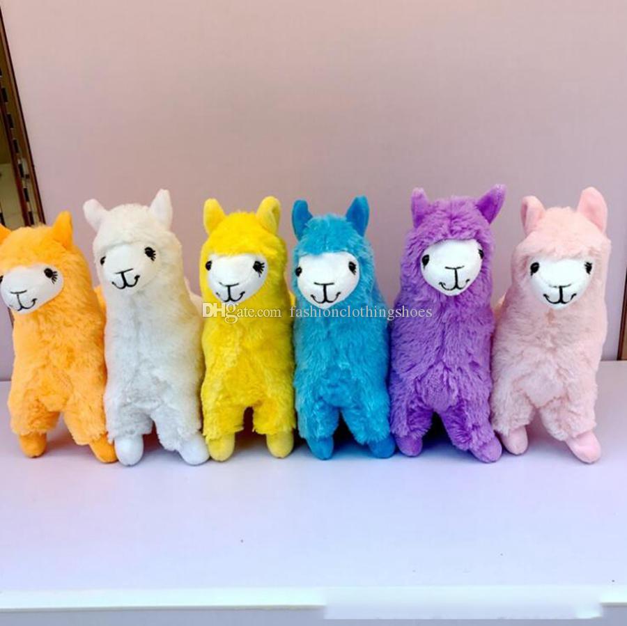 Альпака Llama куклы плюша 23cm 12 цветов животных Фаршированная Мягкие куклы мультфильм Симпатичные Alpacasso Для детей Игрушки