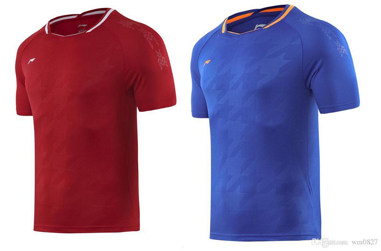 Новый 2019 Li Ning бадминтон футболки, Мужчины + Женщины Теннис рубашки, Национальная сборная по бадминтону футболки, Quick Dry Спортивная одежда, Настольный теннис трикотажных изделий