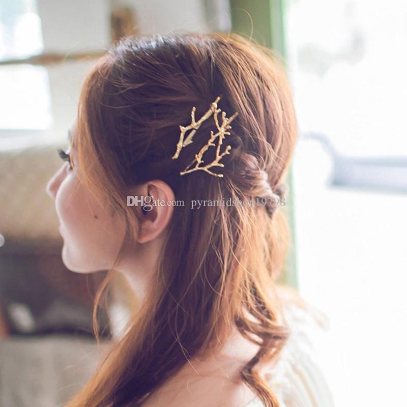 Damen geweih haarspangen weiblich kinder mädchen legierung haarspangen party weihnachten halloween haarschmuck gold silber