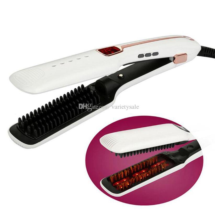 Hair Straighteners Ceramic Multifunction Steam Spray Flat Iron Infraqizil anion Hair Straightens Brush Hair Stylin Tools DHL Free