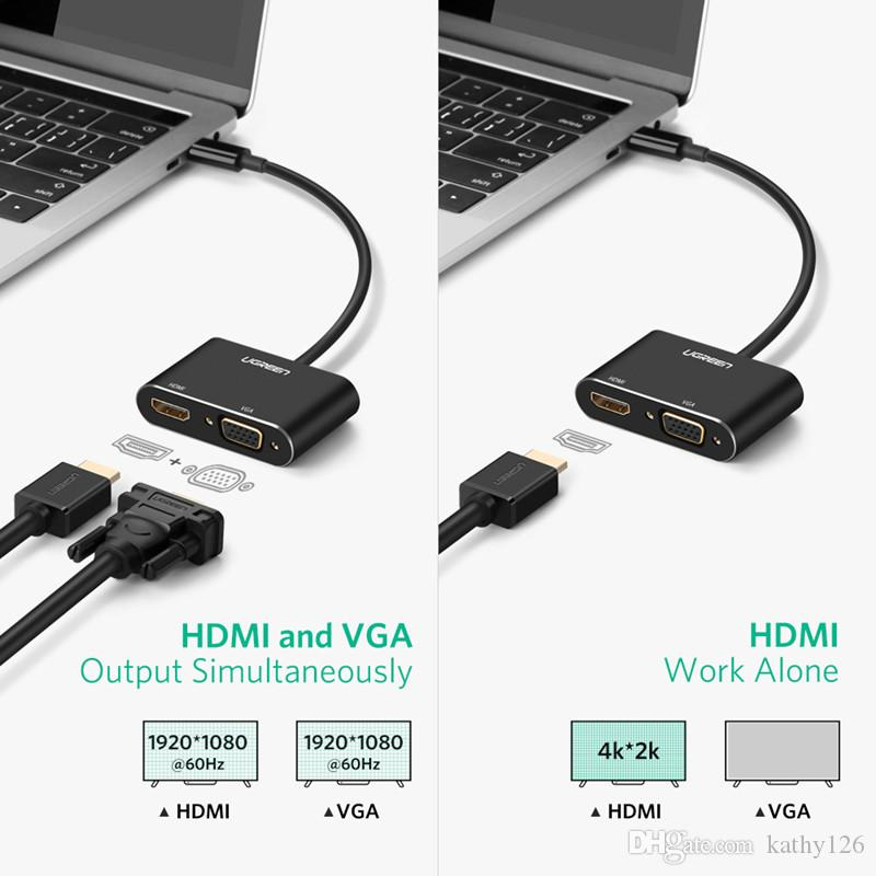 Ugreen USB C HDMI Cable 4K Type C to Thunderbolt 3 HDMI Adapter Fr Samsung S9 S8