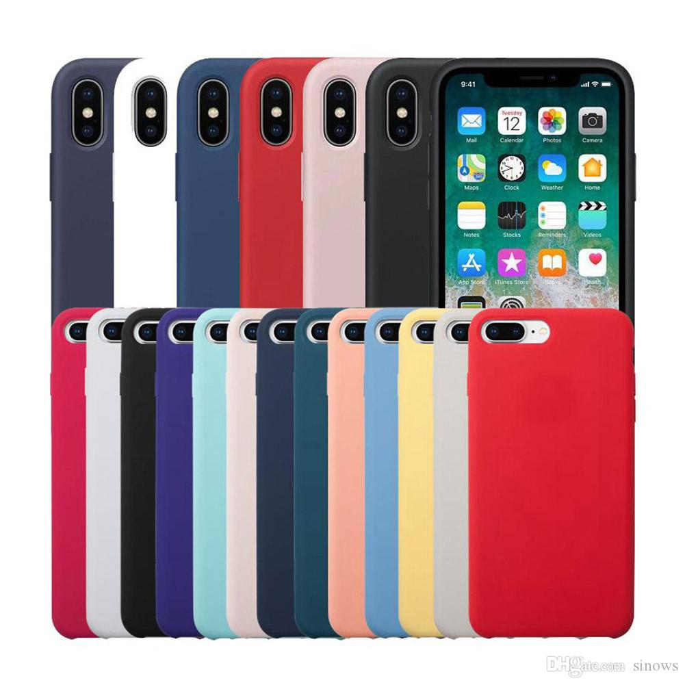 Luxury Silicone Case for iPhone XS Max XR X 7 8 6 6S Plus Thin Soft Back Bag Cover for iPhone 11 Pro Max