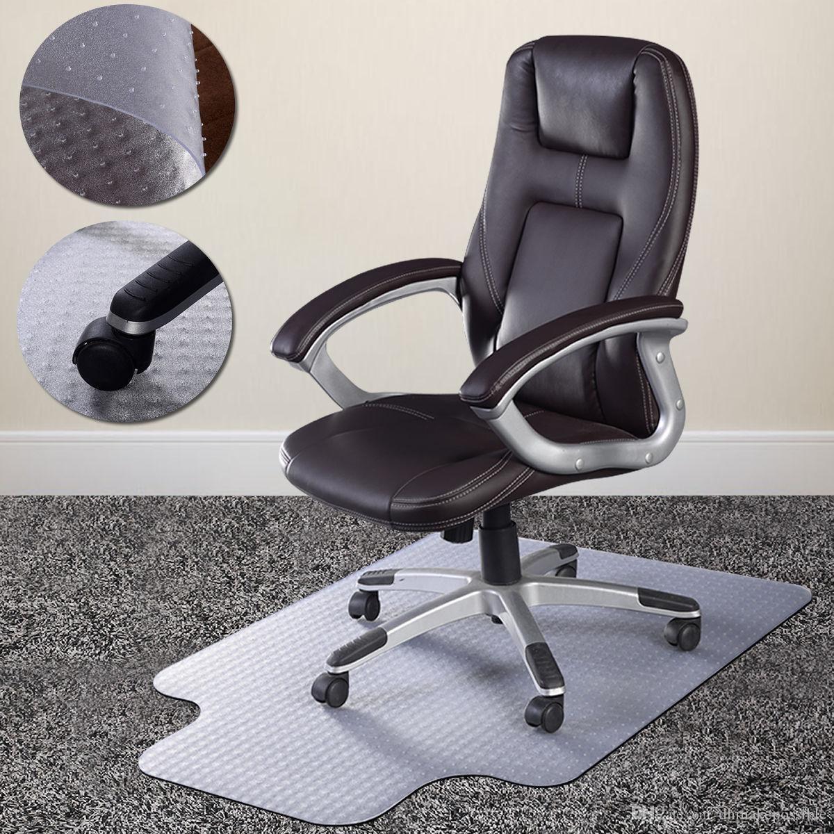 PVC Home Office Chair Tapete Studded volta com Lip para Pile Carpet Padrão