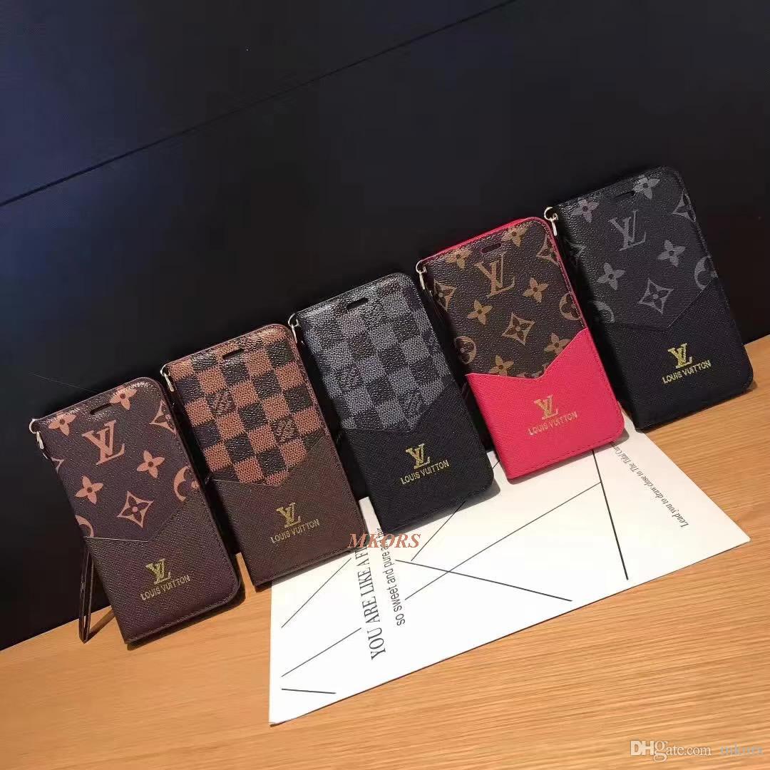 فليب الحقيبة حالة الهاتف المحمول لفون X XS MAX XR 8 8plus 7 7plus الأزياء محفظة محفظة فتحة بطاقة حامل غطاء الهاتف المحمول