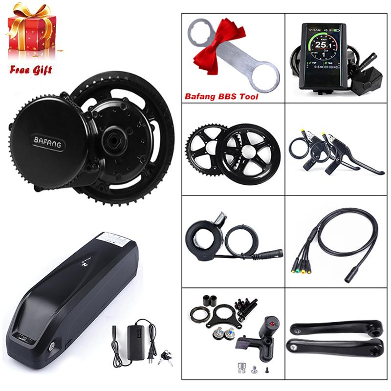 BAFANG 8FUN 36V 250W EBIKE Mid Drive Crank Motor Conversion Kit 36V 17.4AH Hailong Battery Pack Electric Bicycle Middle Engine Components