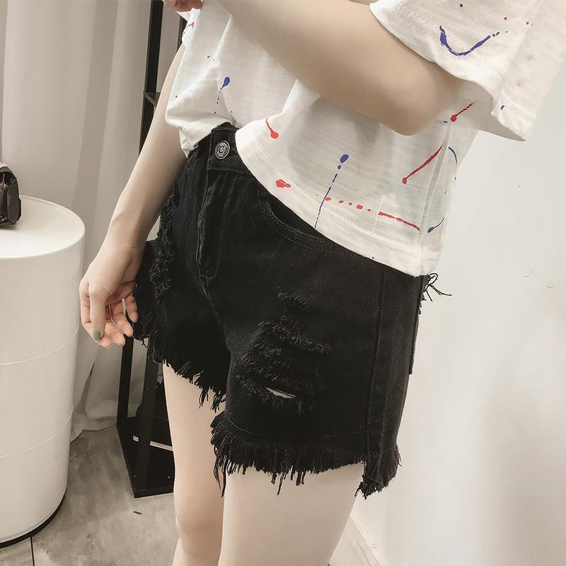 Yüksek Bel Pamuk İnce Şort İlik Moda Kısa Pantolon Öğrenci Kadınlar Kot Pantolon 2020 Yeni Casual Streetwear Jean Şort