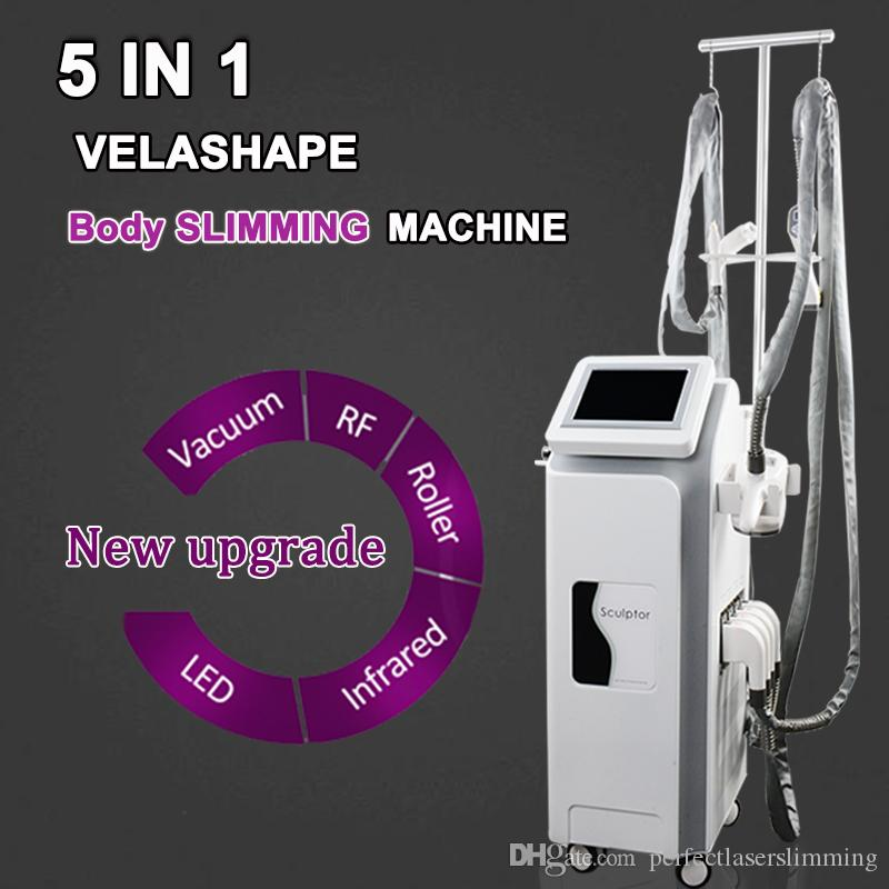 New Version Velashape multifunctional vacuum cavitation rf machine Vela shape Weight Loss Slimming Beauty Solon Machine 5 handles