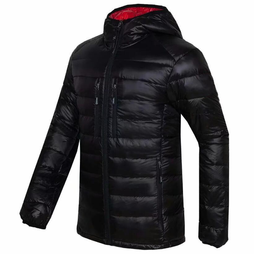 2019 Yüksek Kalite Yeni Kış erkekler Aşağı kirpi ceket Casual Marka Kapüşonlular North Down Parkas Sıcak Kayak Erkek yüzü Coats QBK