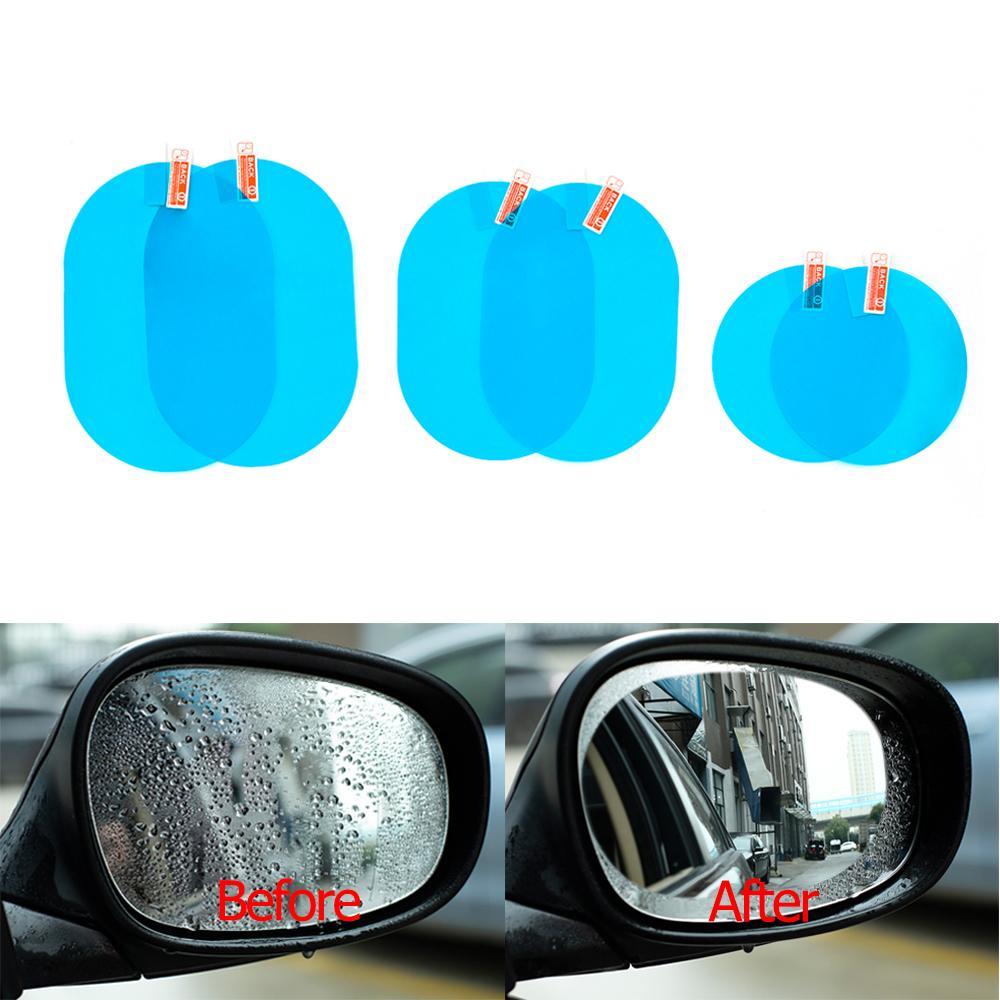 Car Mirror Window Film transparent anti-buée voiture Rétroviseur Film protecteur autocollant de voiture étanche 2 pièces / Set