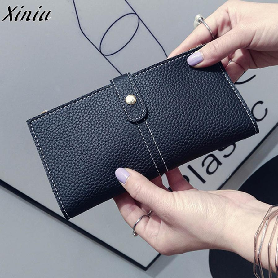 New Arrive Women's Purse Daily Use 2019 Female Long Wallet Clutch High Quality Female Coin Purse Fashion Handbags Thin Wallets