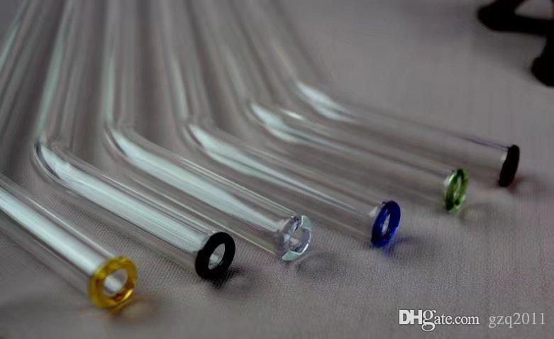 cor spray de vidro longo comprimento do tubo 23 centímetros de diâmetro 10mm, Atacado vidro Bongs Acessórios, vidro de água de fumo da tubulação, frete grátis