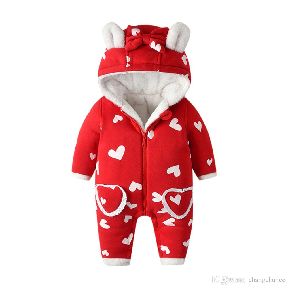 clothes baby boy winter thick coat bunny Cartoon romper Jumpsuit zipper Hooded outerwear cotton baby coat boy outerwear