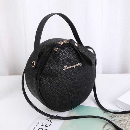 4be690f5 2019 новинка женская сумка простой дизайн сумка для женщин мини круглая  сумка искусственная кожа леди сумка