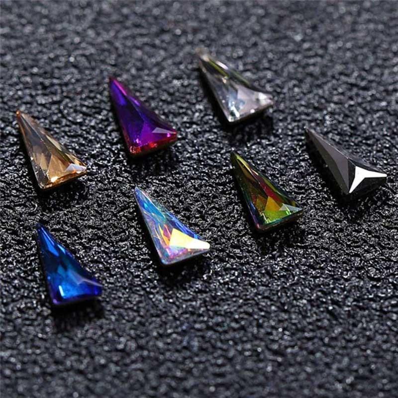 10 unidades / pacote de vidro em forma de lágrima Flatback strass diamante brilhante Nail Art Decorações Diy beleza broca jóias suprimentos