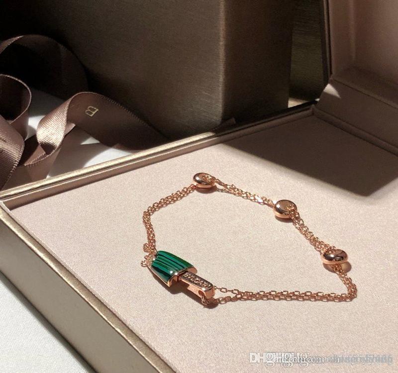 B العلامة التجارية مصمم المجوهرات النسائية أساور إمرأة سيدة الكلاسيكية الأخضر فريتيلاريا سحر سوار braccialetto دي فندق Lusso سوار Pulseira دي LUXO