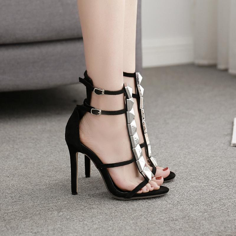 Sexy2019 Fasciola Year High Avec Rome Shoe Nail T Font Femme Sandales