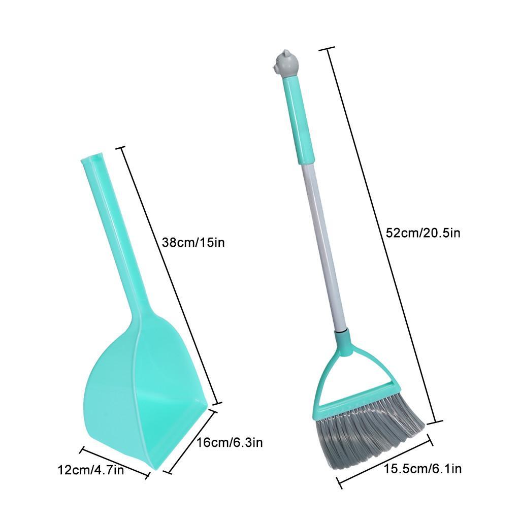 Ferramentas de limpeza Simulação Housekeeping Set-3pcs do miúdo, pequeno Mop pequeno Broom pequeno Dustpan crianças brincar de casinha brinquedos