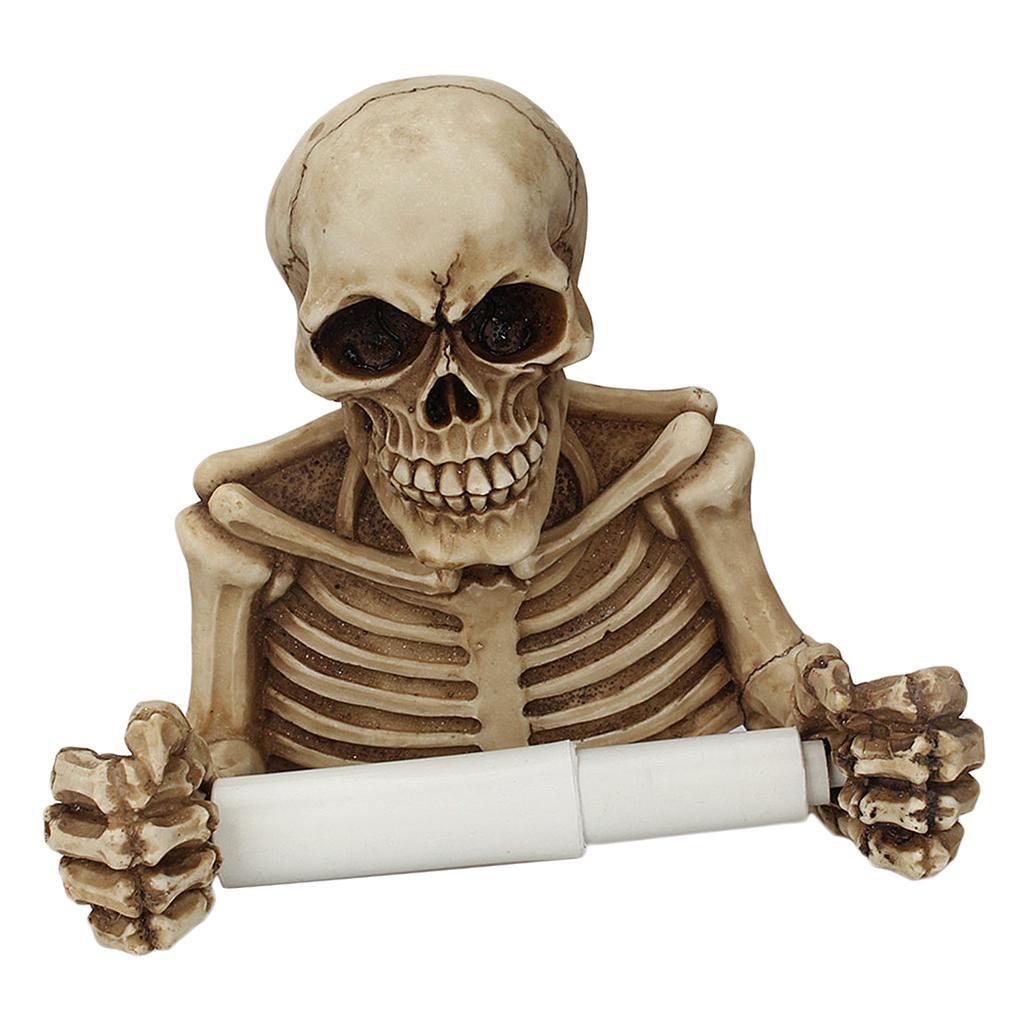 Hanging On mur résine Skeleton papier / Porte-papier pour la cuisine et salle de bains