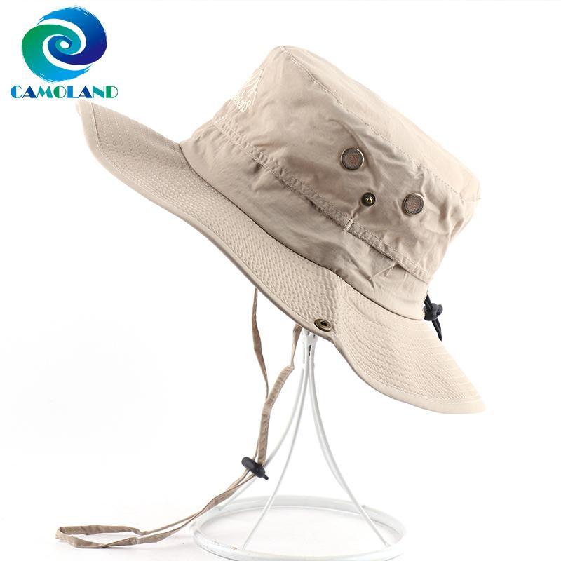CAMOLAND impermeabile Boonie Hat per le donne Protezione UV Estate Uomini Cappello per il sole asciutto rapido Safari Pesca Cap Mesh traspirante Beach Cap